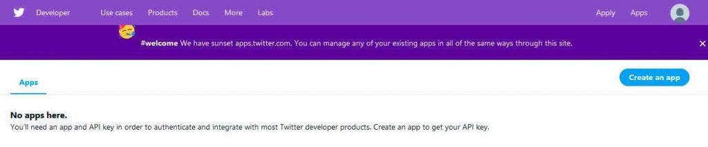 Как получить API Key от Twitter.